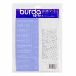 Pochette papier soie quadrillé 140cm x 110 cm x5 - 226