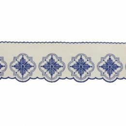 Bande fleur 12cm bleu - 238