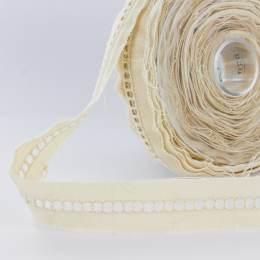 Dentelle jour échelle 100% coton écru 2,5 cm - 25