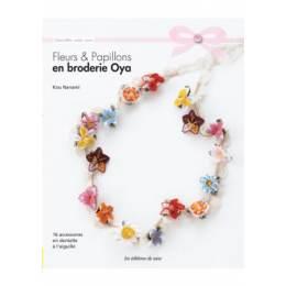 Fleurs et papillons en broderie oya - 254