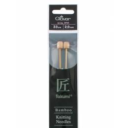 Aiguille à tricoter bambou 33cm 2.00mm - 256