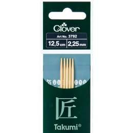 Aiguille tricot 2 pt bambou 12.5cm 2.25mm - 256