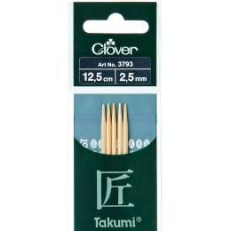 Aiguille tricot 2 pt bambou 12.5cm 2.50mm - 256
