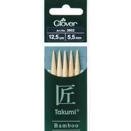 Aiguille tricot 2 pt bambou 12.5cm 5.50mm - 256