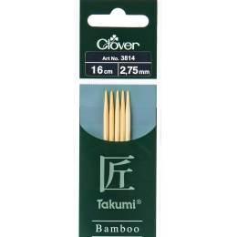 Aiguille tricot 2 pt bambou 16cm 2.75mm - 256