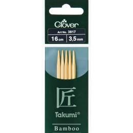 Aiguille tricot 2 pt bambou 16cm 3.50mm - 256