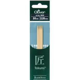 Aiguille tricot 2 pt bambou 20cm 2.25mm - 256