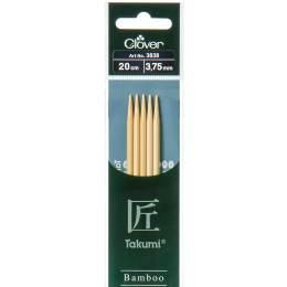 Aiguille tricot 2 pt bambou 20cm 3.75mm - 256