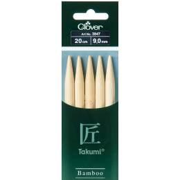 Aiguille tricot 2 pt bambou 20cm 9.00mm - 256