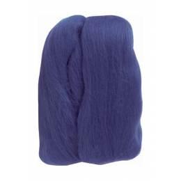 Laine mèche à feutrer bleu - 256