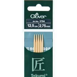 Aiguille tricot 2 pt bambou 12.5cm 2.75mm - 256