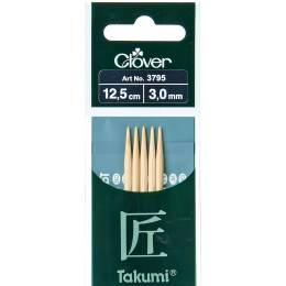 Aiguille tricot 2 pt bambou 12.5cm 3.00mm - 256