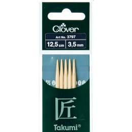 Aiguille tricot 2 pt bambou 12.5cm 3.50mm - 256