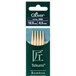 Aiguille tricot 2 pt bambou 12.5cm 4.50mm - 256