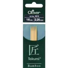 Aiguille tricot 2 pt bambou 16cm 2.25mm - 256