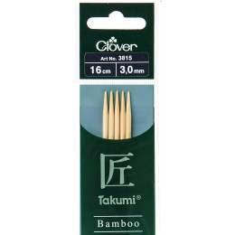 Aiguille tricot 2 pt bambou 16cm 3.00mm - 256