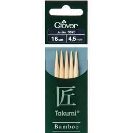 Aiguille tricot 2 pt bambou 16cm 4.50mm - 256