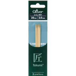 Aiguille tricot 2 pt bambou 20cm 2.00mm - 256