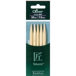 Aiguille tricot 2 pt bambou 20cm 7.00mm - 256
