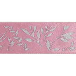 Ruban fantaisie motifs feuilles orientales - 258
