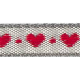 Ruban fantaisie cœurs - 258