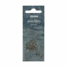 Perles carré argent/50 pc - 26