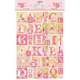 Alphabet papier fleur Tilda A4 - 26