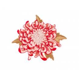 Appliqué fleur rouge /1 pc - 26