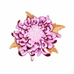 Appliqué fleur mauve /1 pc - 26