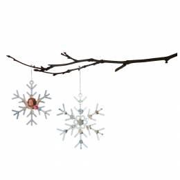 Flocon de neige Tilda à suspendre x2 - 26