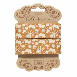 Ruban 25 mm wild garden honey yellow - 26