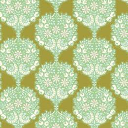 Tissu tilda 5m x 110 cm flower tree green - 26
