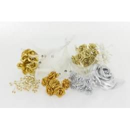 Assortiment de 10 modèles fleurs or et argent - 265