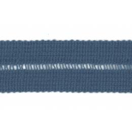 Tresse pre-pliee 3cm bleu