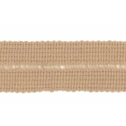 Tresse pre-pliee 3cm beige rosé