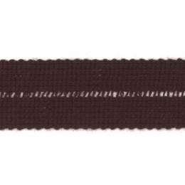Tresse pre-pliee 3cm chocolat - 267