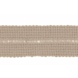 Tresse pre-pliee 3cm beige - 267