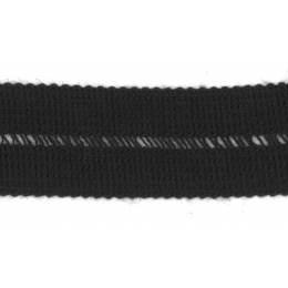 Tresse pre-pliee 3cm noir