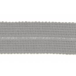 Tresse pre-pliee 3cm gris clair - 267