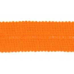 Tresse pre-pliee 3cm orange