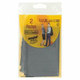 Poche veston à coudre polyester-1paire-gris