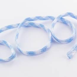 Spaghetti tube largeur 8 mm vichy bleu - 283