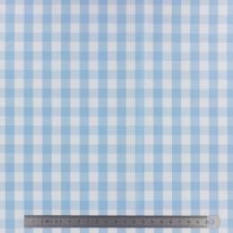 Tissu vichy popeline coton 10/10mm ciel - 283