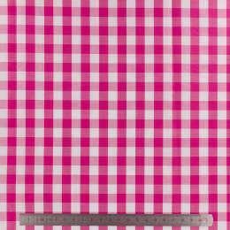 Tissu vichy popeline coton 10/10mm fuchsia - 283