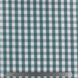 Tissu vichy popeline coton 10/10mm canard - 283
