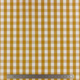 Tissu vichy popeline coton 10/10mm safran - 283