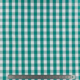Tissu vichy popeline coton 10/10mm emeraude - 283