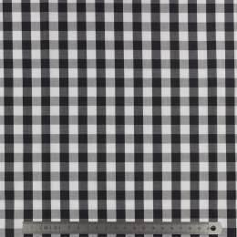 Tissu vichy popeline coton 10/10mm noir - 283