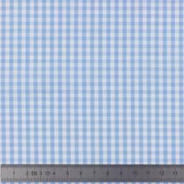 Tissu vichy popeline coton 3/3mm ciel - 283