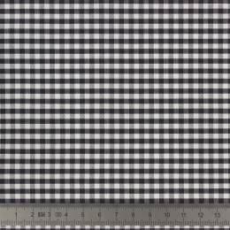 Tissu vichy popeline coton 3/3mm noir - 283